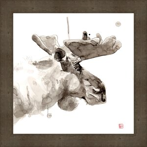 'Moose' Framed Painting Print on Canvas by Ashton Wall Décor LLC