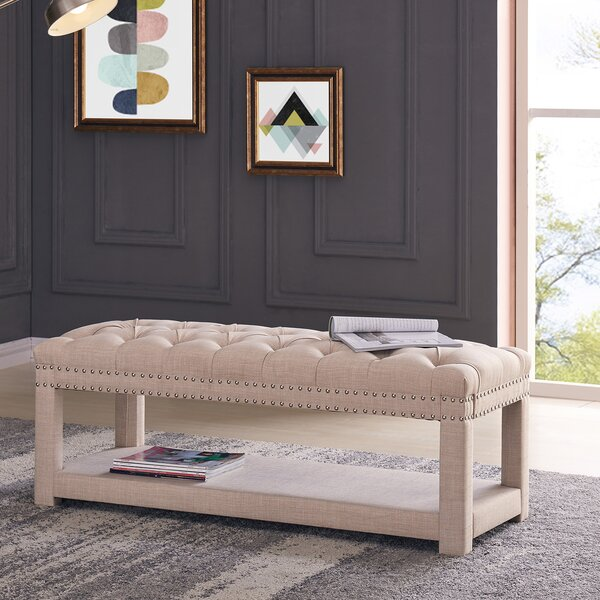 Alcott Hill Karlton Upholstered Storage Bench & Reviews by Alcott Hill