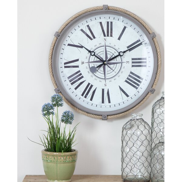Destefano Nautical 17.5 Wall Clock by Breakwater Bay