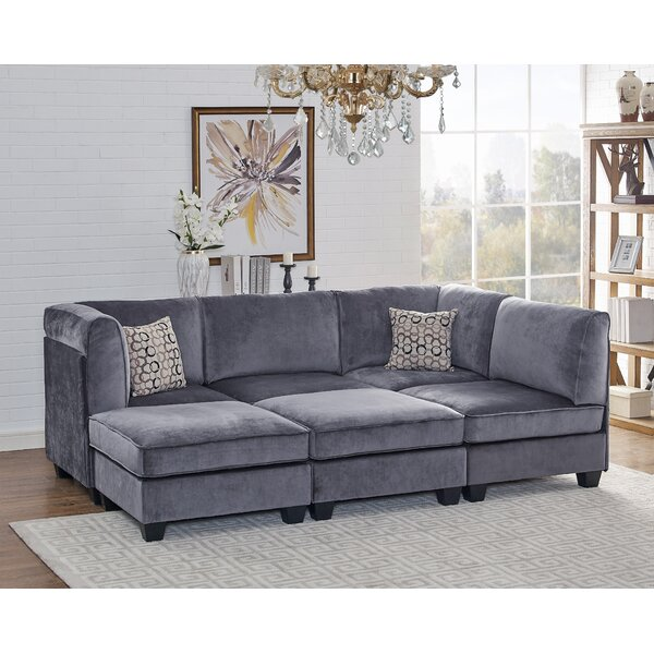 Beautiful Classy Marylou Modular Velvet Sofa Set by Ivy Bronx by Ivy Bronx
