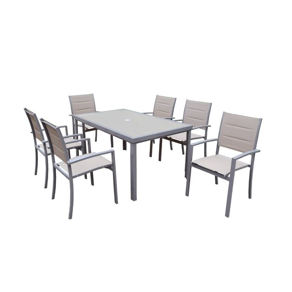 Vierzon 7 Piece Dining Set by Ebern Designs