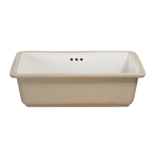 Vitreous China Rectangular Undermount Bathroom Sink with Overflow by Hazelwood Home