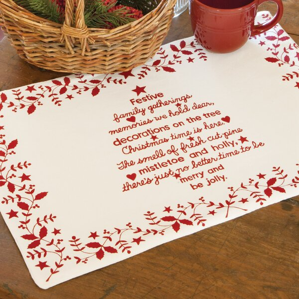 Christmas Time Placemat (Set of 4) by Heritage Lace