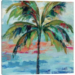 'California Palm I' Watercolor Painting Print by East Urban Home