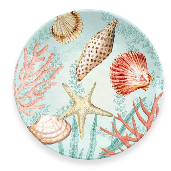 Cantero Coral Reef Melamine Salad Plate (Set of 6) by Highland Dunes