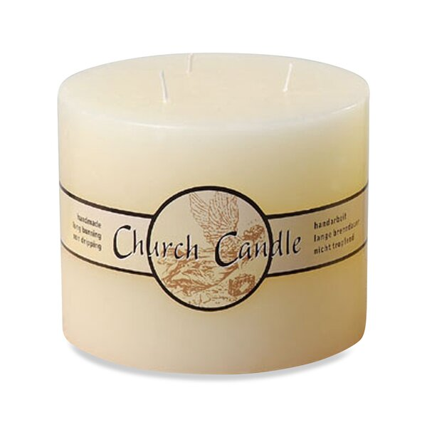 Angel Label Church Unscented Pillar Candle by Whole House Worlds