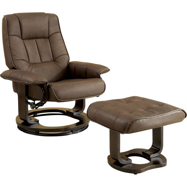 Manual Swivel Recliner With Ottoman by Hokku Designs
