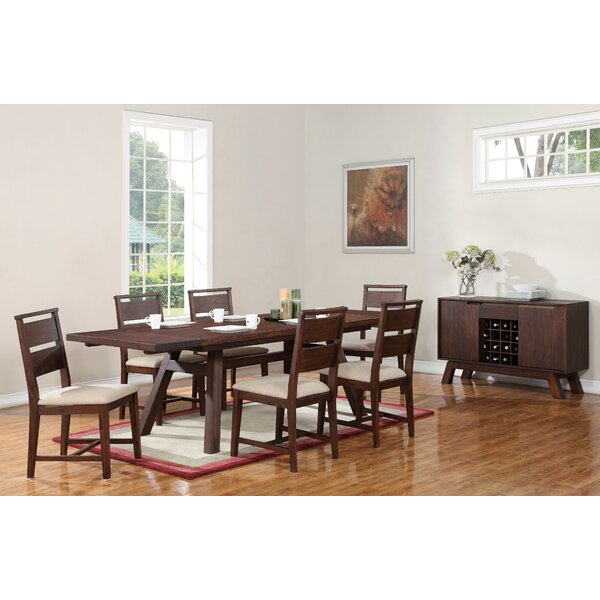 Damiani 7 Piece Extendable Solid Wood Dining Set by Brayden Studio