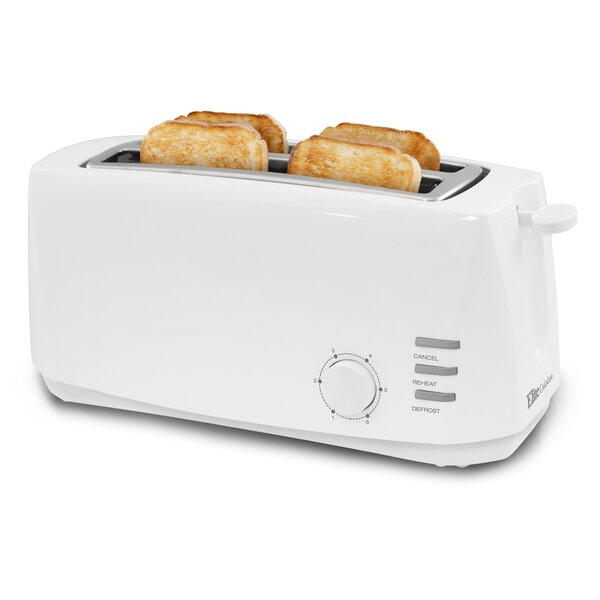 Cuisine  4 Slice Long Slot Cool Touch Toaster by Elite by Maxi-Matic