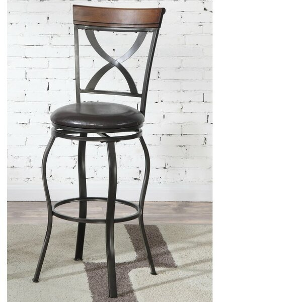 Hosking Metal 24 Swivel Bar Stool (Set of 2) by Fleur De Lis Living