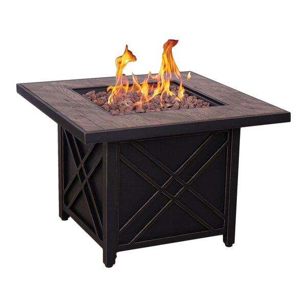 Darwin Stainless Steel Propane and Natural Gas Fire Pit Table by Afterglow