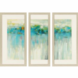 'Lights on the Beach' 3 Piece Framed Painting Print Set by Brayden Studio