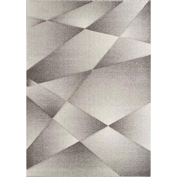 Zeta Ribbons Gray Area Rug by Orren Ellis