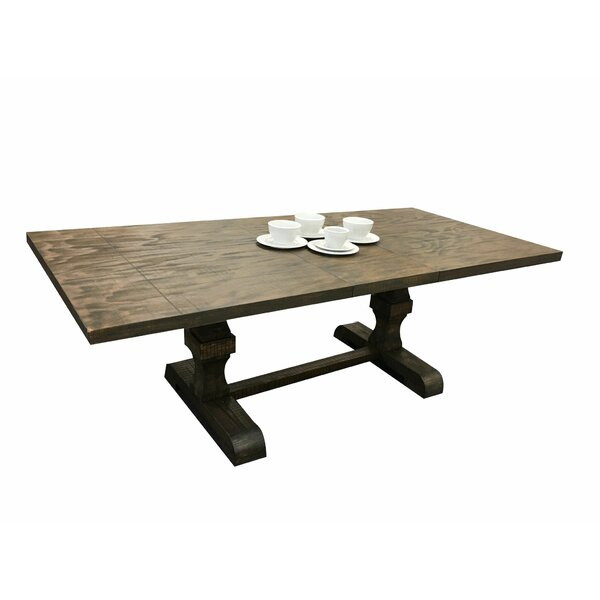 Lesley Trestle Pedestal Base Extendable Dining Table by Ophelia & Co.