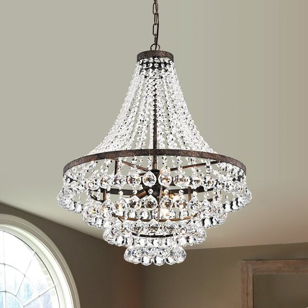 Replogle 7 - Light Unique / Statement Tiered Chandelier With Crystal Accents By House Of Hampton