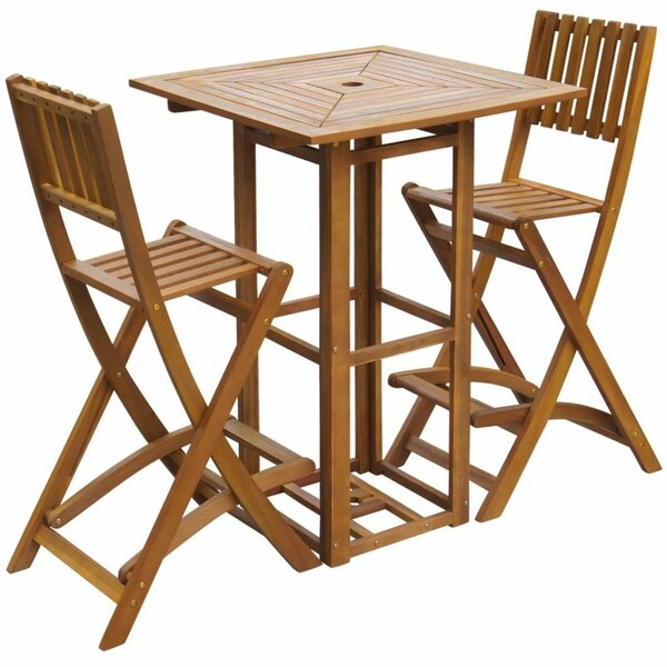 Lyra 3 Piece Dining Set by Rosecliff Heights