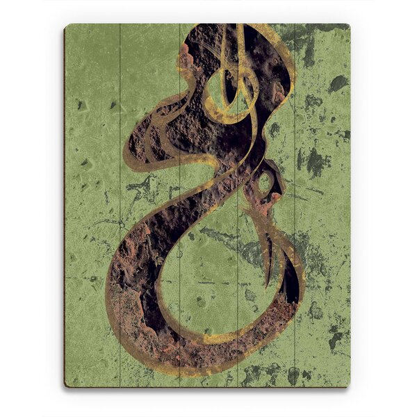 Hooked Green and Yellow Light Texture Graphic Art on Canvas by Click Wall Art
