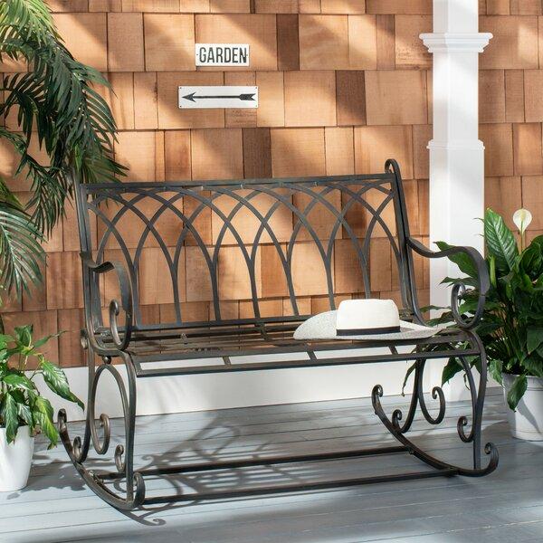 Baptista Rock Iron Garden Bench by Ophelia & Co.