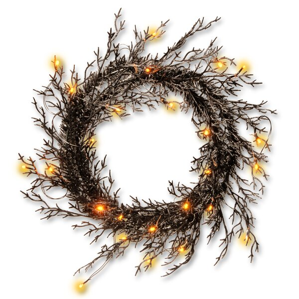 Halloween Wreath with Lights by National Tree Co.