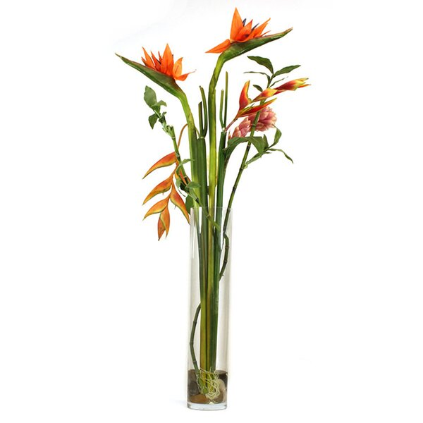 Tall Bird of Paradise in Decorative Vase by Dalmarko Designs