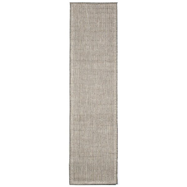 Cecile Texture Silver/Ivory Indoor/Outdoor Area Rug by Beachcrest Home