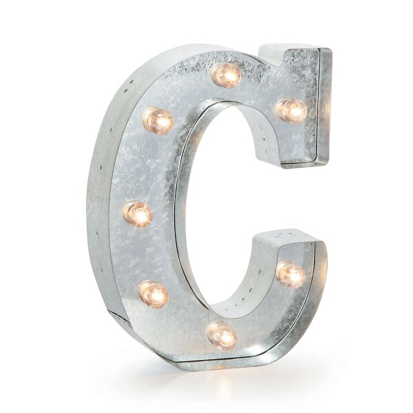 Buhl Marquee Metal Letter Blocks by Wrought Studio