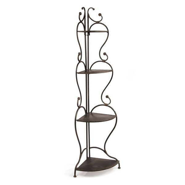 Deveau Corner Unit Bookcase by Fleur De Lis Living