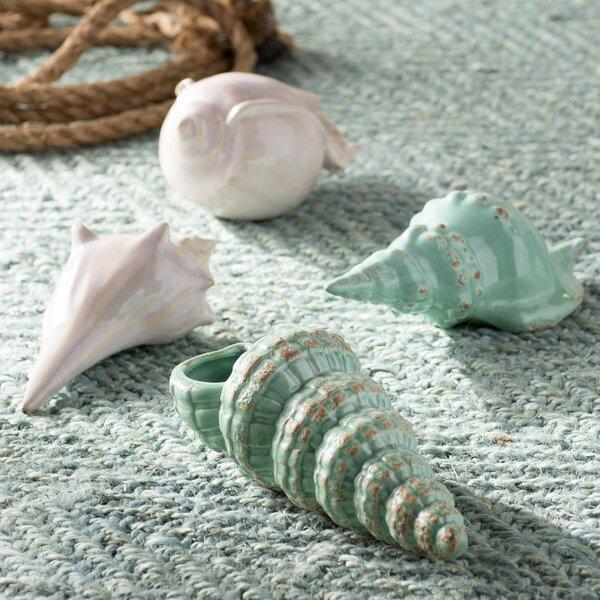 Joselyn 4 Piece Sea Shell Figurine Set by Beachcrest Home