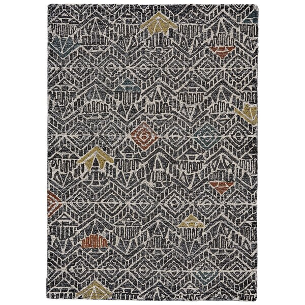 Reger Hand-Tufted Wool Charcoal Area Rug by Bloomsbury Market