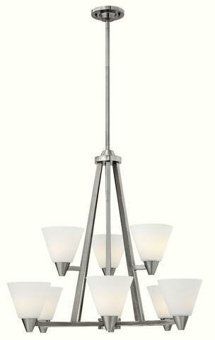 Piscitelli 9 - Light Shaded Tiered Chandelier by Latitude Run Latitude Run