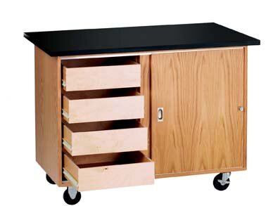 Mobile Demonstration Table by Diversified Woodcrafts