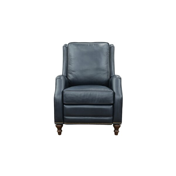 Otterbein Leather Power Recliner By Canora Grey