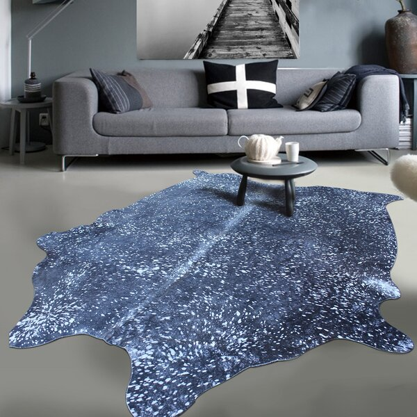 Exquisite Gleaming Acid Wash Hand-Woven Silver/Black Area Rug by Rug Factory Plus