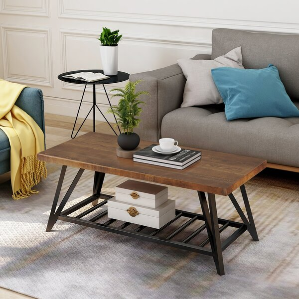 Milania Coffee Table With Storage By Union Rustic