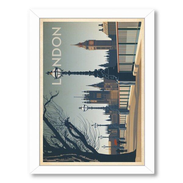 London Framed Vintage Advertisement by East Urban Home
