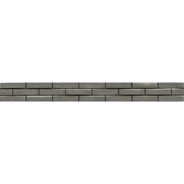 Ambiance Stagg Brick 1-1/4 x 12 Resin Tile in Pewter by Bedrosians