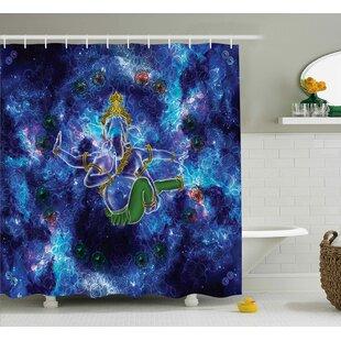 Read Reviews Baumann Indian Cosmos Harmony Shower Curtain ByLatitude Run