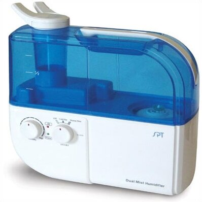 1.06 Gal. Cool and Warm Mist Ultrasonic Tabletop Humidifier by Sunpentown