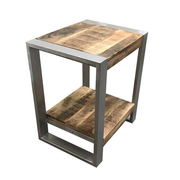 Lupo Reclaimed Wood End Table by Union Rustic