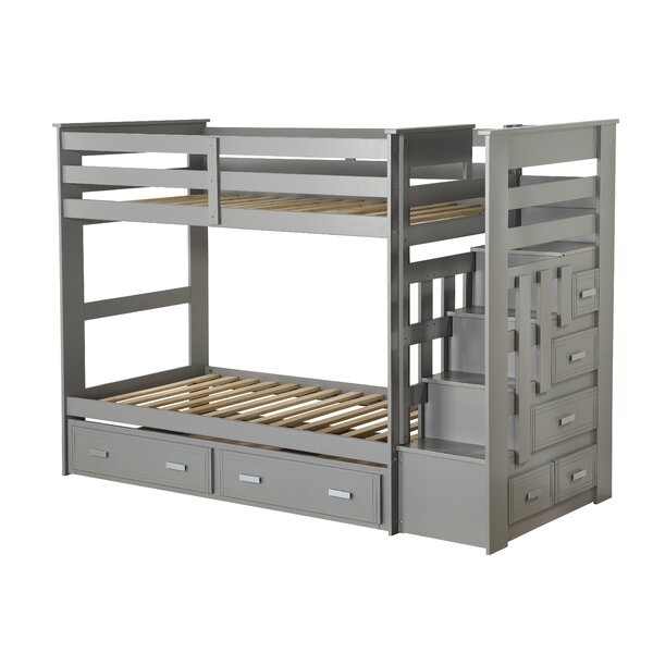 Fulda Twin over Twin Bunk Bed with Drawers by Harriet Bee