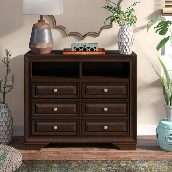 Review Perera 6 Drawer Double Dresser