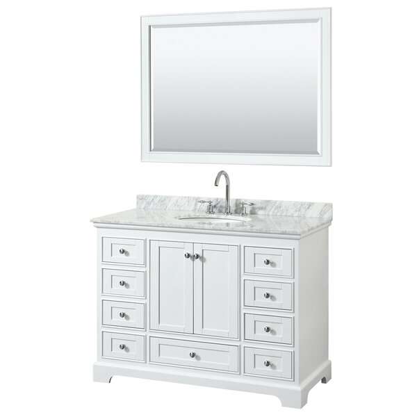 Deborah 48 Single Bathroom Vanity Set with Mirror