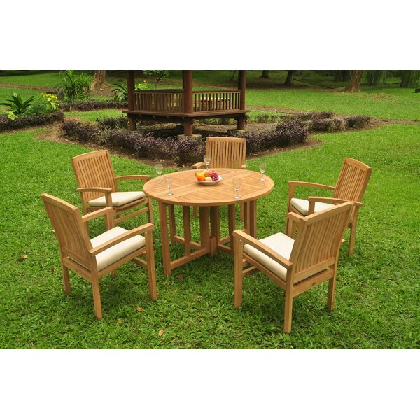 Trystan 6 Piece Teak Dining Set by Rosecliff Heights