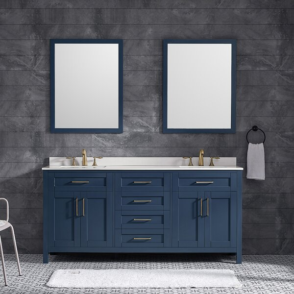 Tahoe 72 Double Bathroom Vanity Set with Mirror
