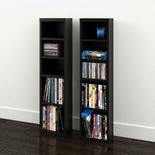 Affordable Price Elma Multimedia Storage Standard Bookcase (Set of 2) ByZipcode Design