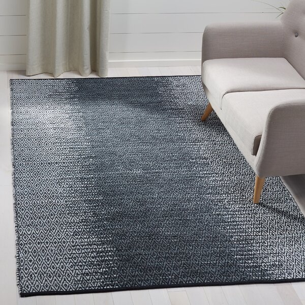 Logan Hand-Woven Light Grey/Charcoal Area Rug by Bungalow Rose