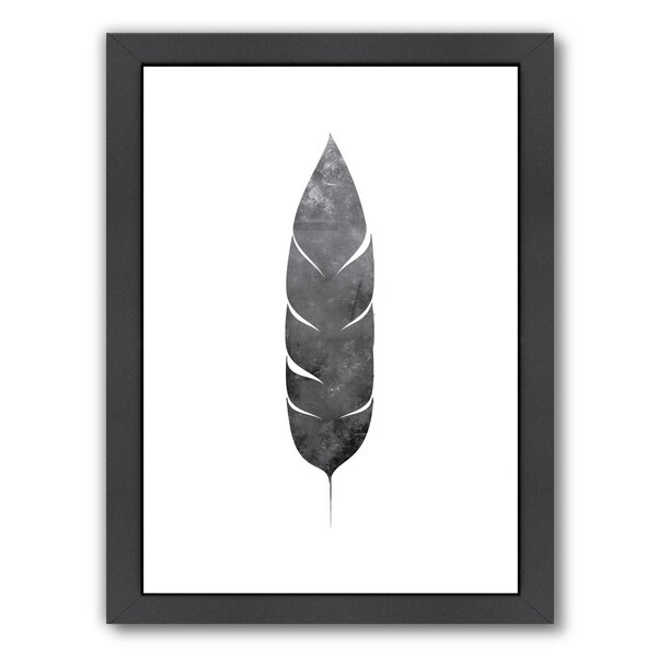 Feather Framed Graphic Art by Bungalow Rose