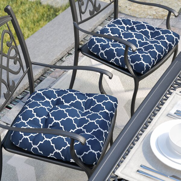 Indoor/Outdoor Dining Chair Cushion (Set of 2) by Three Posts