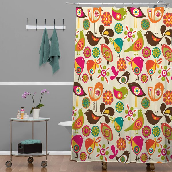 Little Birds Shower Curtain by East Urban Home