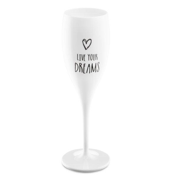 Ackermann Live Your Dreams Plastic 3.38 oz. Champagne Flute by Ebern Designs